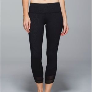 Lululemon Emerge Renewed Crop Prisma Embossed